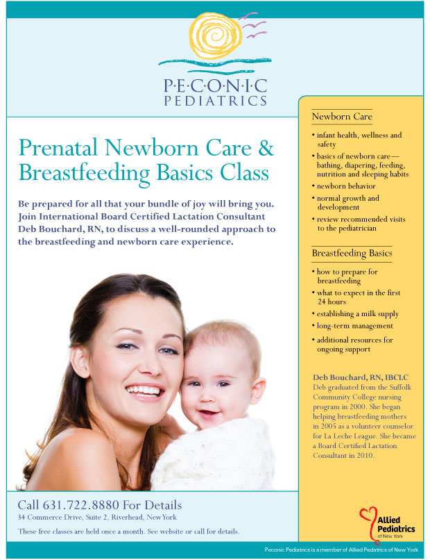 Prenatal Breastfeeding & Newborn Care Flyer