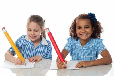 Peconic Pediatrics in Riverhead, NY - Children taking test
